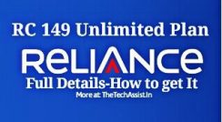 reliance 149 unlimited plan