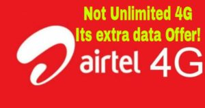airtel unlimited 4g data offer is extra data offer