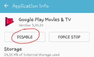 disable pre-installed apps