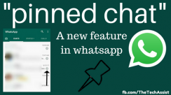 Whatsapp pinned chat feature