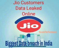 Jio customer details leaked online database hacked